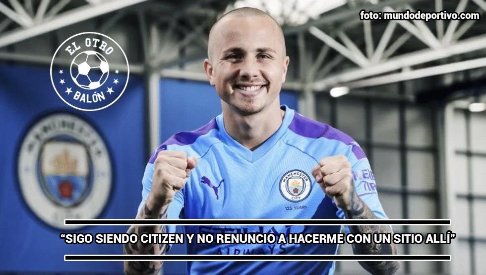 Angeliño con el Manchester City (Premier League). El Otro Balón. Foto: mundodeportivo.com