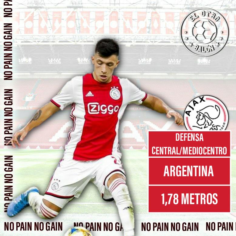 Lisandro Martínez, Ajax Ámsterdam, El Otro Balón, Foto: @cruijffarena