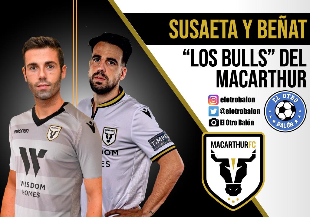 """Susaeta y Beñat, """"los Bulls"""" del Macarthur FC"""