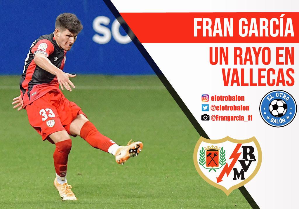 Fran García, Rayo Vallecano, La Liga SmartBank. El Otro Balón. Foto: @Frangarcia_11