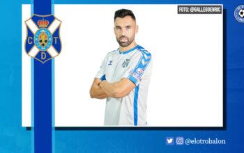 Enric Gallego, CD Tenerife, La Liga Smartbank. El Otro Balón. Foto: @gallegoenric