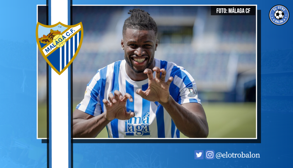 Sekou Gassama, Málaga CF, La Liga Smartbank. El Otro Balón. Foto: @MalagaCF